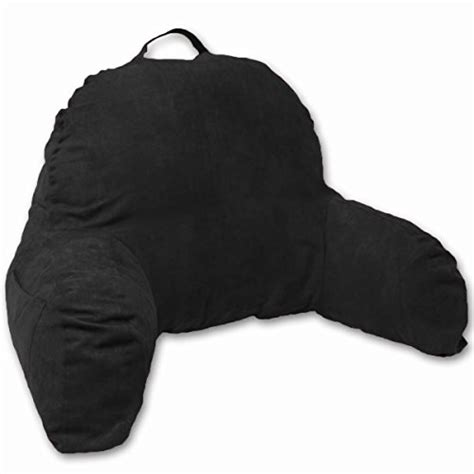 black bed rest pillow compare cameo microsuede bedrest pillow color black