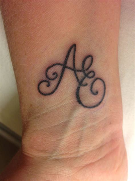 monogram tattoo my new my initials ae same as my children