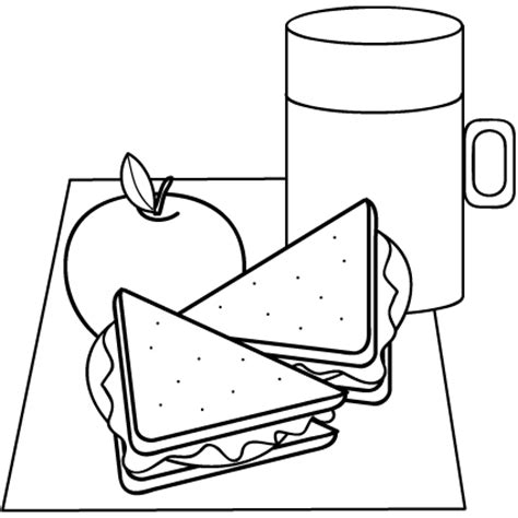 lunch box coloring page pages sketch coloring page