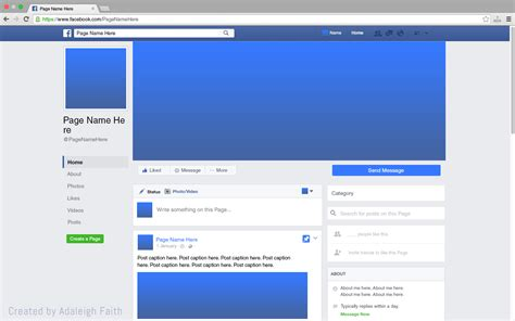 facebook themes and layouts free download premium facebook page mockup 2016 layout by