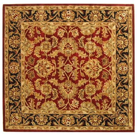 6 x 6 area rugs safavieh heritage black 6 ft x 6 ft square area rug hg628c 6sq the home depot