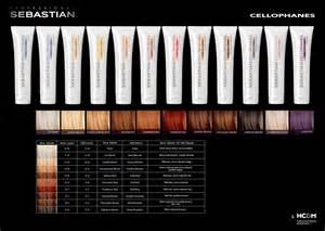 sebastian cellophanes color chart brown hairs