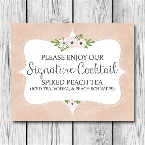 wedding sign signature cocktail sign printable cocktail