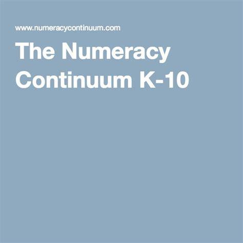 printable version of numeracy continuum the numeracy continuum k 10 teaching ideas pinterest