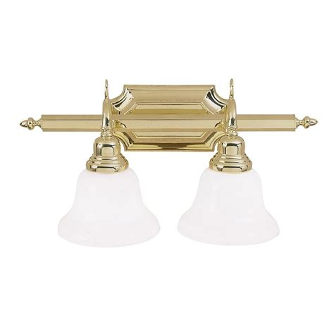 polished brass vanity lights bathroom shop livex lighting 2 light french regency polished brass