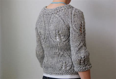 Modern Knit Sweater Pattern | modern garden rain knitwear designs knitting patterns