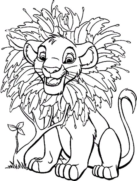 disney lion king printable coloring pages simba coloring pages coloring home