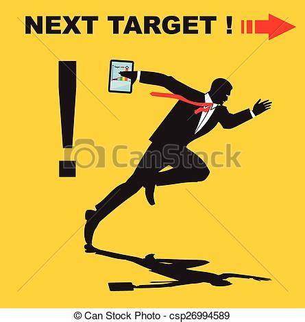 Next In Line For Target Behnaz Sarafpour by Vector Of Next Target Next Step Vector Illustration To