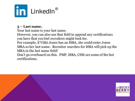 How To Add Mba In Linkedin To Name by Linkedin Tips Tricks 5 2