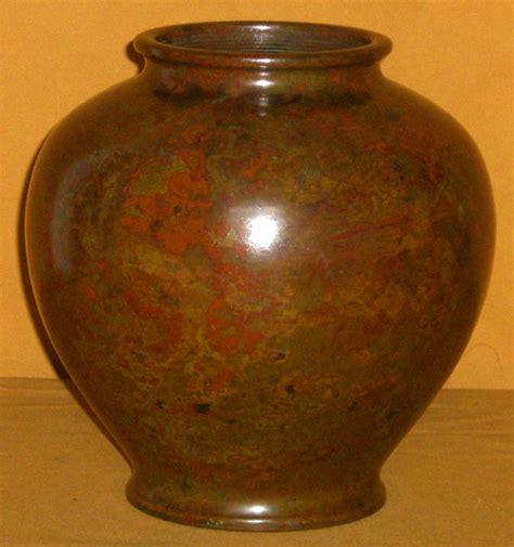 Japanese Vases Antique by Japanese Antique Signed Murashi Do Bronze Flower Vase For
