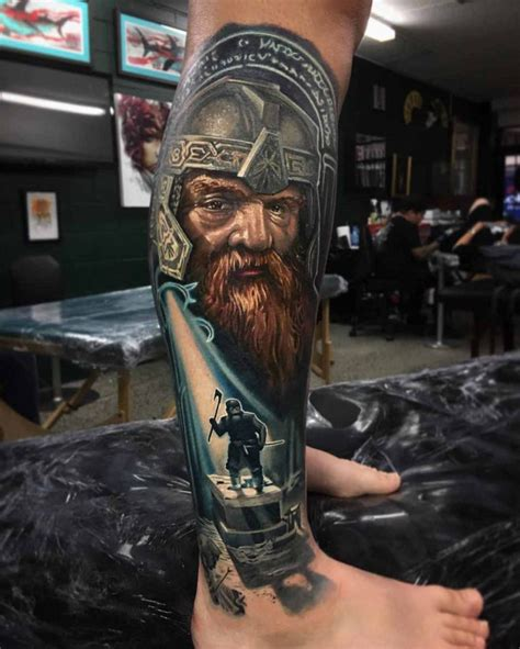 lotr tattoo gimli best tattoo ideas gallery