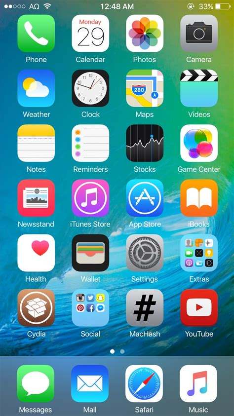 iphone themes ios 8 no jailbreak ios 9 theme for ios 8 jailbreak by theromanemperor on