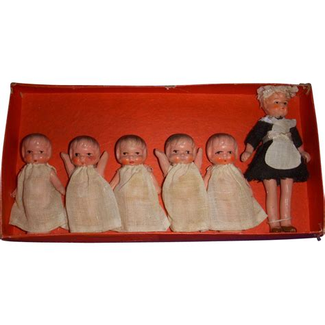 dionne bisque doll vintage all bisque quot quints with quot dolls mib from