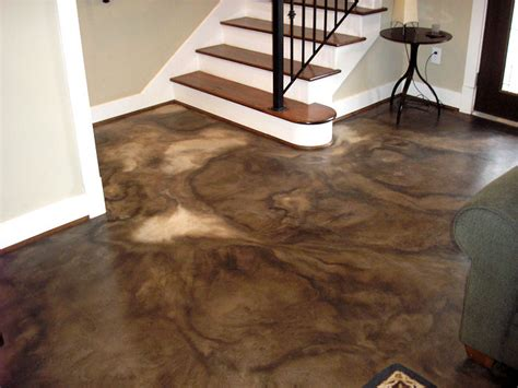 Concrete Floor Ideas Indoors Indoor Concrete Stain On Pinterest Stained Concrete Driveway Cement Stain And Stain Concrete