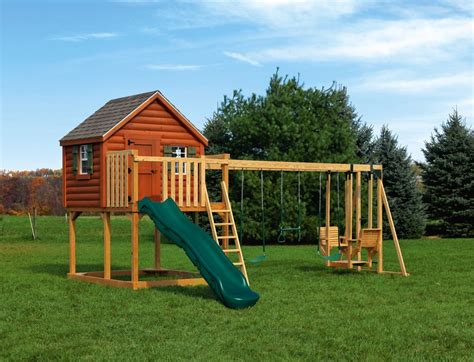 Cabin Playground by Eagle Playground Equipment Log Cabin