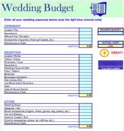 Wedding budget template free iwork templates