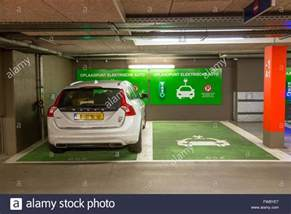 Electric Car Garage Charging Station For Electric Cars In A Parking