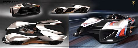 Lamborghini 1 Seater This Electric Single Seater Concept Is So Outrageous