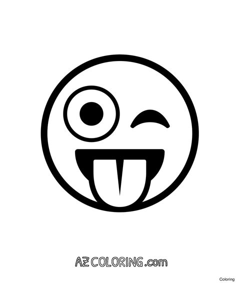 printable crazy eyes 1465083250how to draw kissing emoji step coloring pages