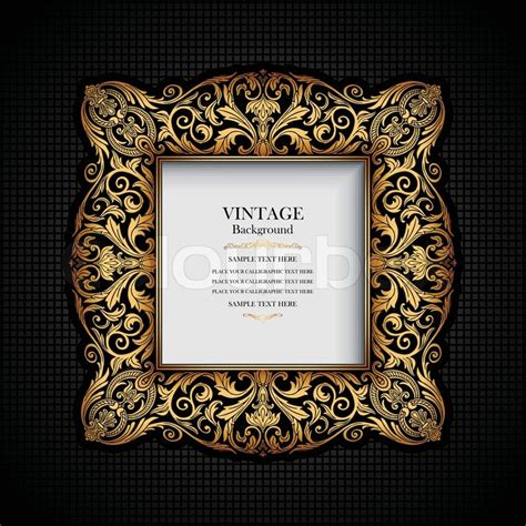 vintage ornamental frame rich royal luxury design creative trendy gold element for page and