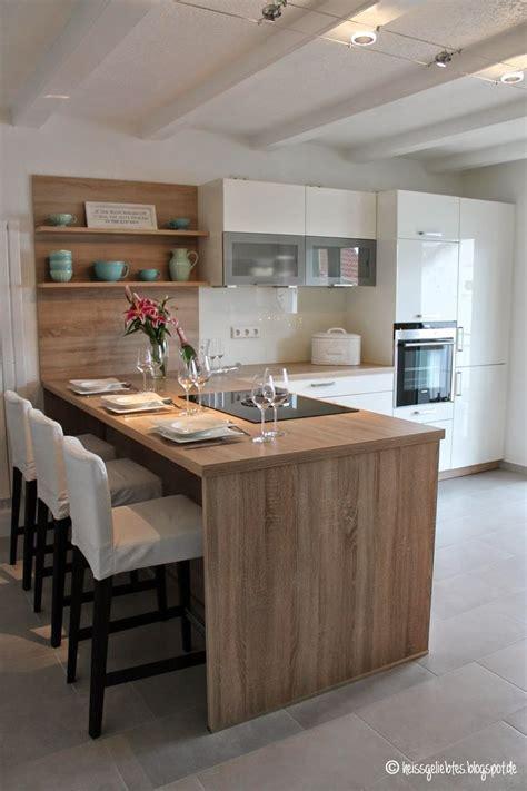 blaue schränke küche farbkombination braun