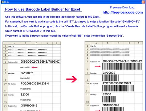 label design software excel use this program you can add in the barcode label