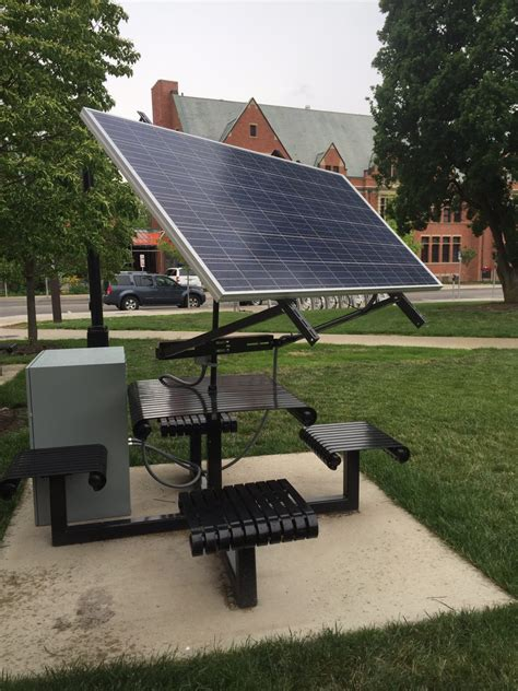 solar charging picnic table engineers   sustainable