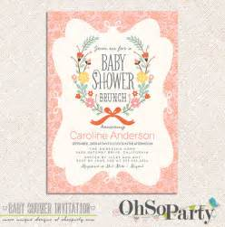 brunch custom baby shower brunch invitation by ohsoparty