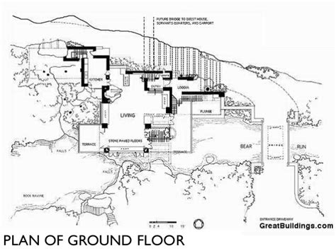 Simple House Floor Plans frank l wright falling waters and key projects