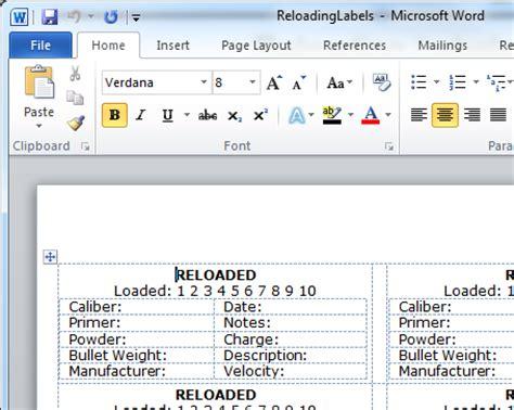 printable reloading labels reloading labels printable bing images