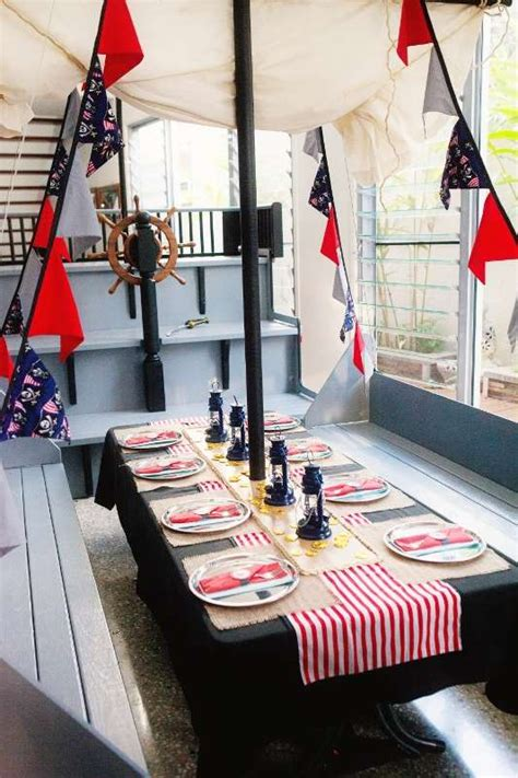 pirate themed table decorations birthday table ideas the bright ideas