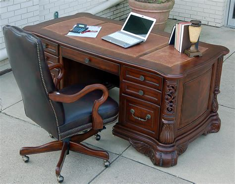 desk with hutch and file cabinet home office ornate executive computer desk with credenza