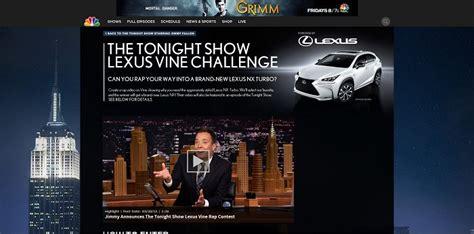 Win A Lexus Sweepstakes - the tonight show lexus vine rap challenge contest