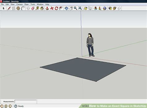 sketchup layout rectangle dimensions how to make an exact square in sketchup 3 steps with