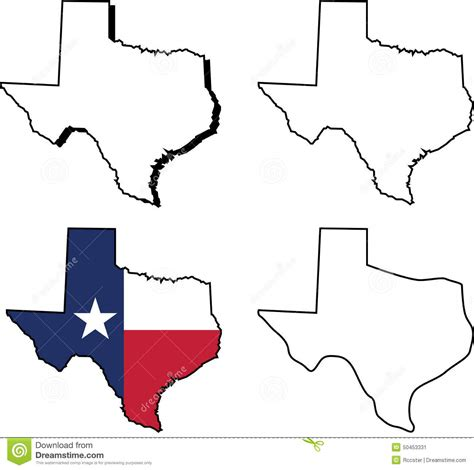 texas map drawing texas state shape clip 57