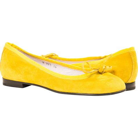 yellow flat shoes for lemon yellow suede ballerina flats paolo shoes