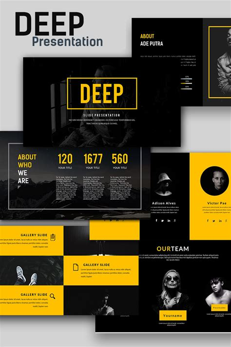Deep Creative Presentation Powerpoint Template 66135 Powerpoint Templates For Website Presentation