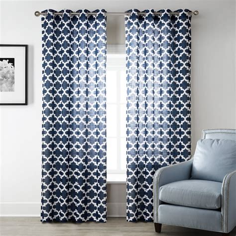 blue geometric curtains sheer geometric curtains white blue geometric curtains