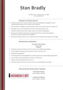 Resume Sample Templates 2017 by Free Resume Templates 2017