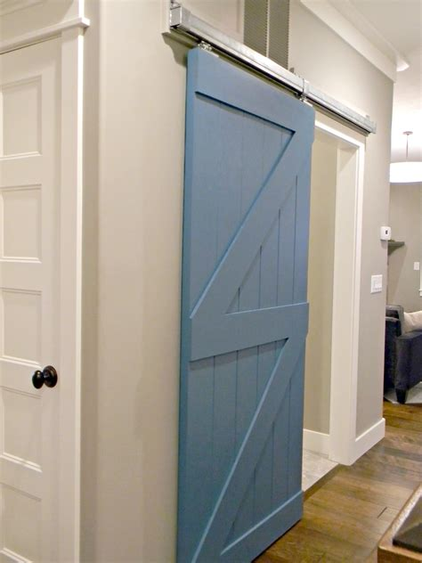 diy sliding bathroom door barn door for the home with red wood floors pinterest