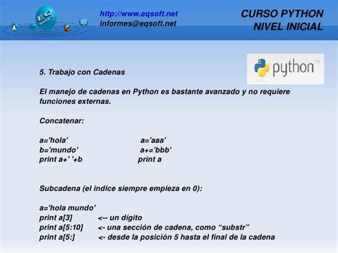 concatenar cadenas en python curso python