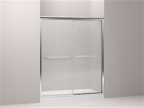 Fluence Shower Door Kohler K 702206 G54 Fluence Frameless Sliding Shower Door With 1 4 Inch Glass