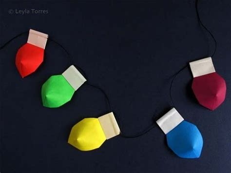 How To Make A Paper Light Bulb - make origami lights luces de navidad