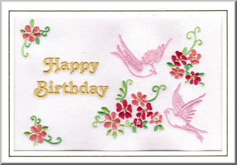 Embroidered Birthday Card An Embroidered Birthday Card From Our Sweetheart Range