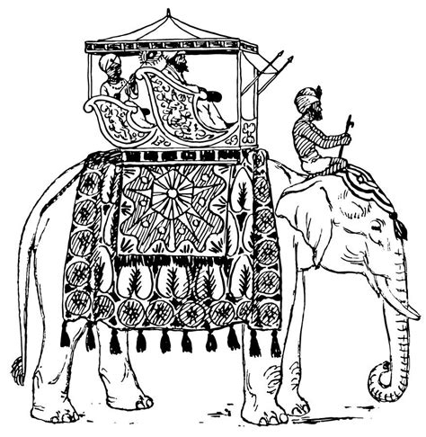 free indian coloring pages elephant india coloring sheet clipart best