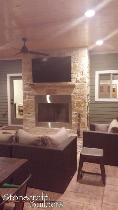 custom outdoor kitchen and fireplaces stonecraft