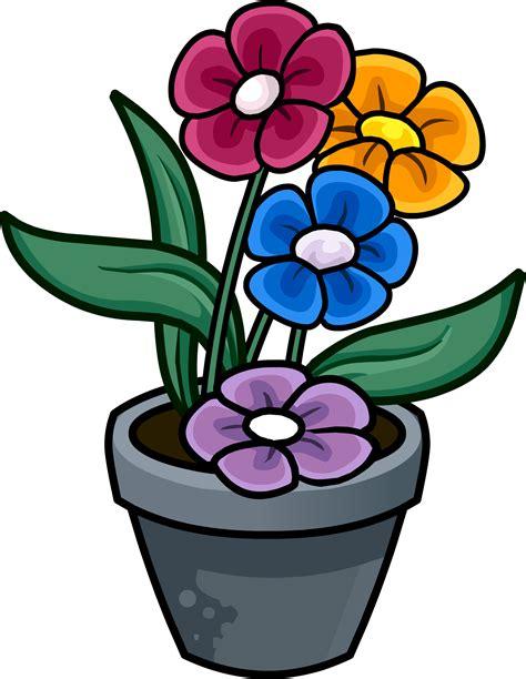 Cute Flower Pots by Image Flower Pot Png Club Penguin Wiki Fandom