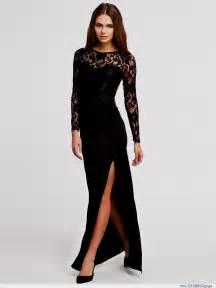 Prom And Wedding Dresses Long Black Dress With Slit Naf Dresses