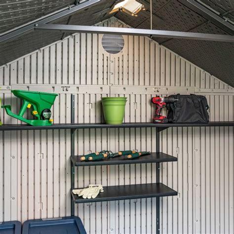 lifetime  ft plastic storage shed kit  windows