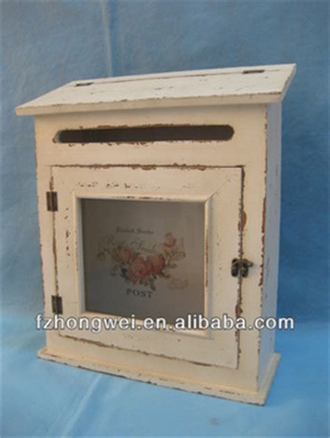 Handmade Mailboxes - durable handmade antique wooden mailbox vintage white